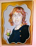 Drinking red hair 60X80 cm