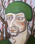A Man in forest 80X100cm