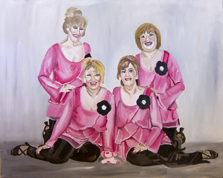 Women in pink 100X80 cm