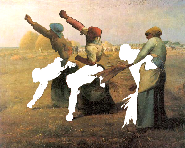 The Gleaners, after millet, Digital Print, 111X83 cm