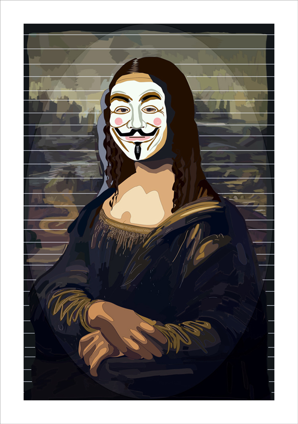 Mona Anonyma, Computer Painting, 87X63 cm, 2013